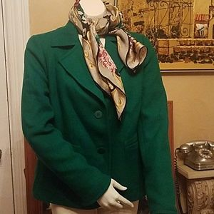 Talbots green blazer sz 12P